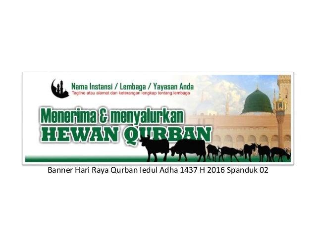 Desain Banner Idul Adha Qurban 1437h 2016