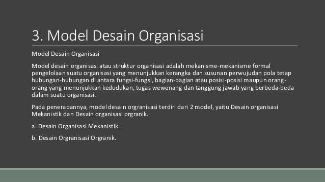 Tugas 9/10 Desain dan Struktur Organisasi