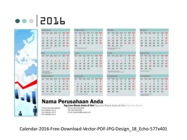 Desain kalender 2016 free download vector cdr pdf jpg