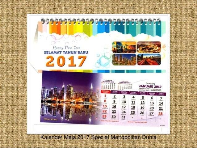 Desain Kalender Meja 2017 AO