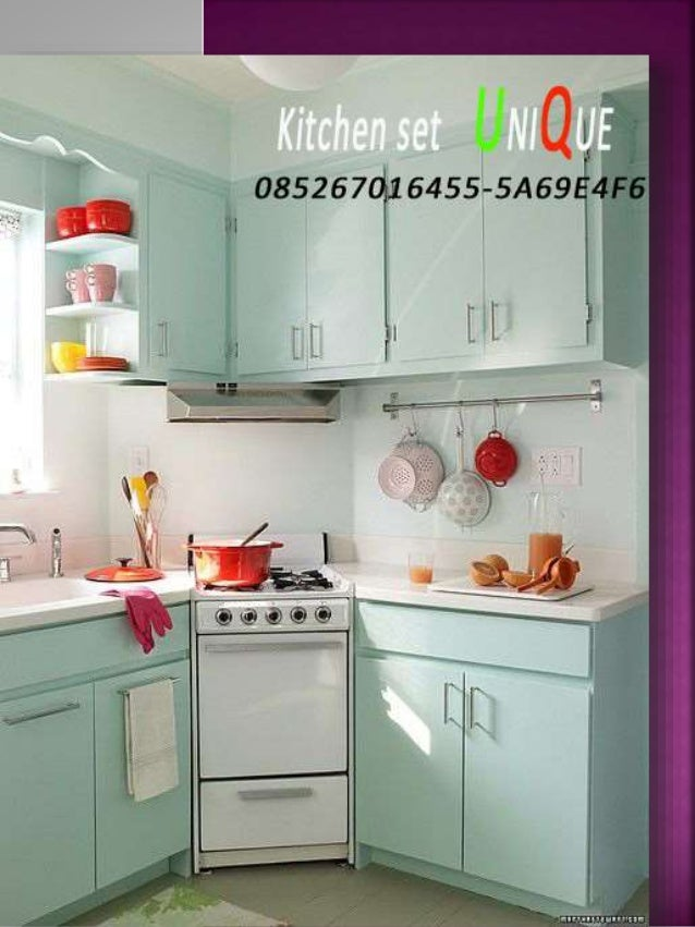 Desain kitchen set minimalis apartemen kitchen set for Harga kitchen set per meter