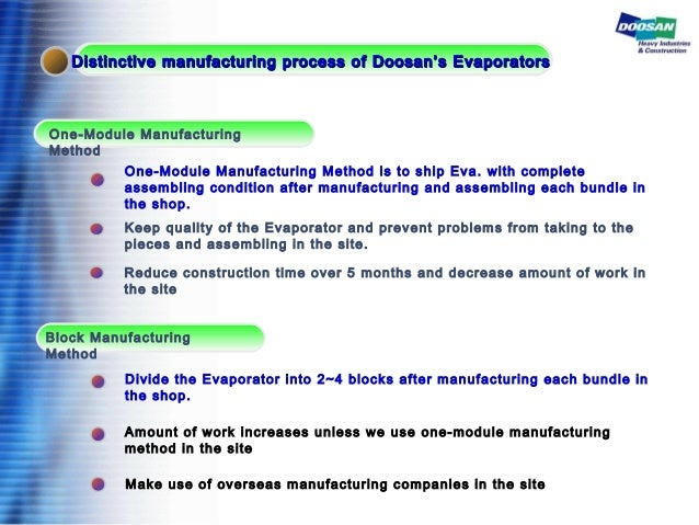 One-Module Manufacturing Method Block Manufacturing Method One-Module Manufacturing Method is to ship Eva. with complete a...