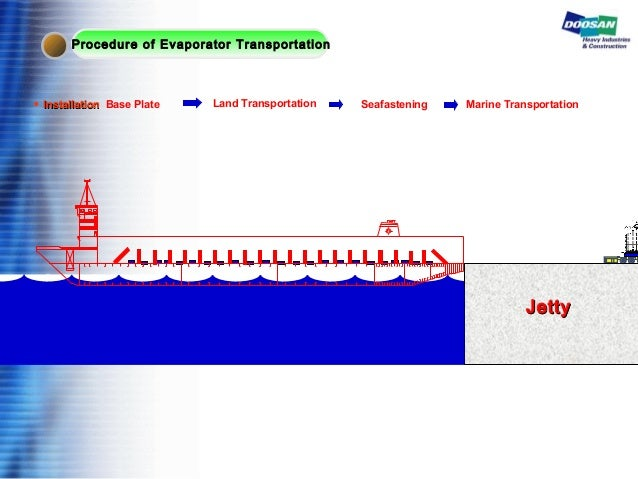 JettyJetty ◆ InstallationInstallation Base Plate Land Transportation Seafastening Marine Transportation Procedure of Evapo...