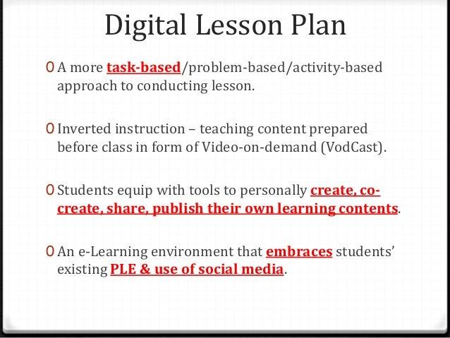 Creating the Digital Lesson Plan: Integrating Web 2 0