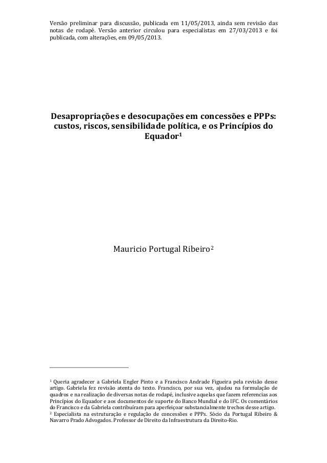 Versão preliminar para discussão, publicada em 11/05/2013, ainda sem revisão dasnotas de rodapé. Versão anterior circulou ...