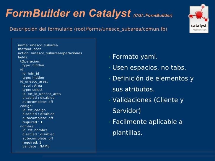 Desarrollando aplicaciones web usando Catalyst y jQuery
