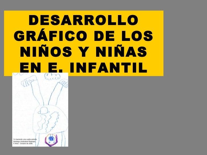 DESARROLLO GRÁFICO DE LOS NIÑOS Y NIÑAS EN E. INFANTIL