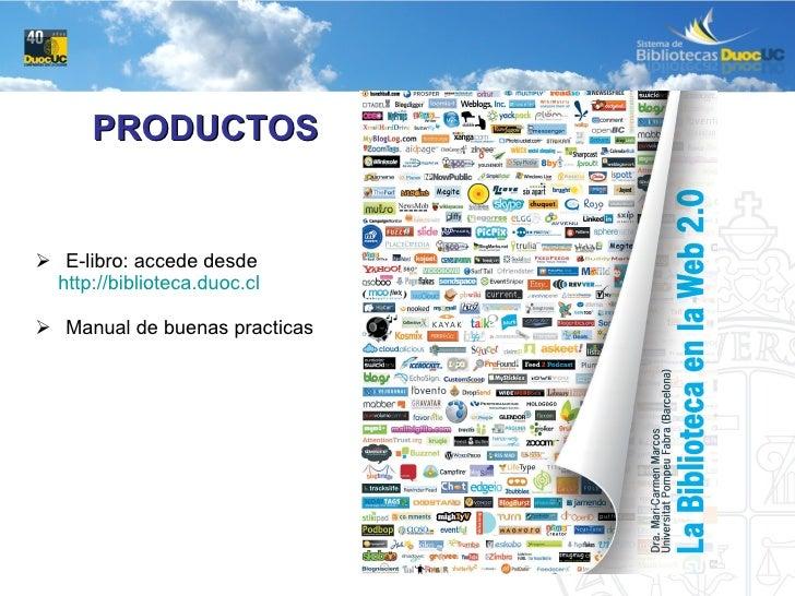 <ul><li>E-libro: accede desde </li></ul><ul><li>http://biblioteca.duoc.cl   </li></ul><ul><li>Manual de buenas practicas <...