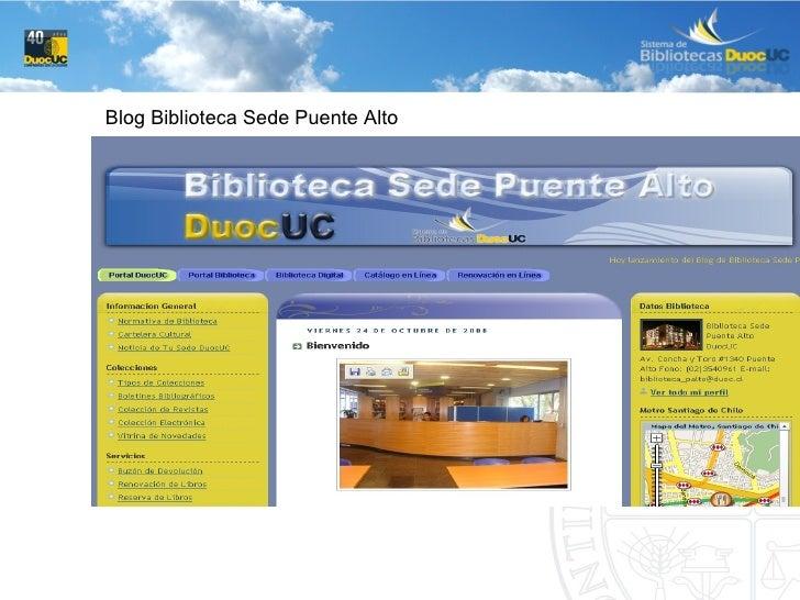 Blog Biblioteca Sede Puente Alto