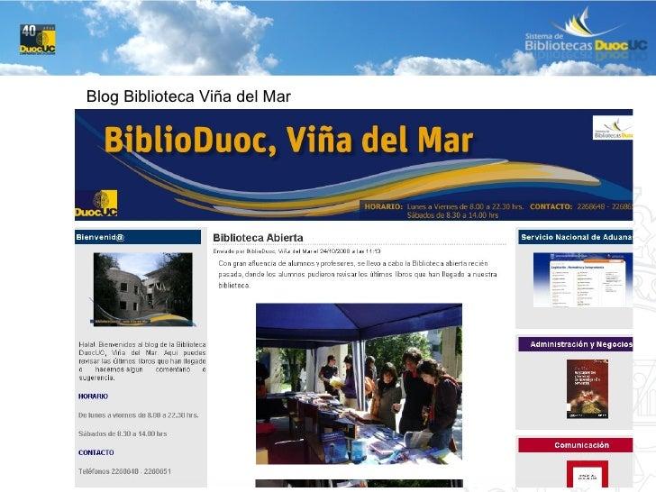 Blog Biblioteca Viña del Mar