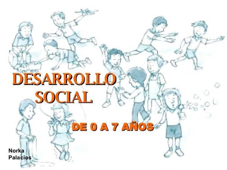 DESARROLLO SOCIAL DE 0 A 7 AÑOS Norka Palacios