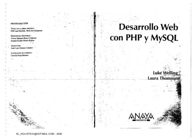 DESARROLLO WEB CON PHP Y MYSQL LUKE WELLING PDF