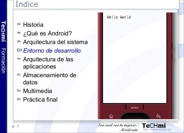 Desarrollo Android 3 Entorno De Desarrollo