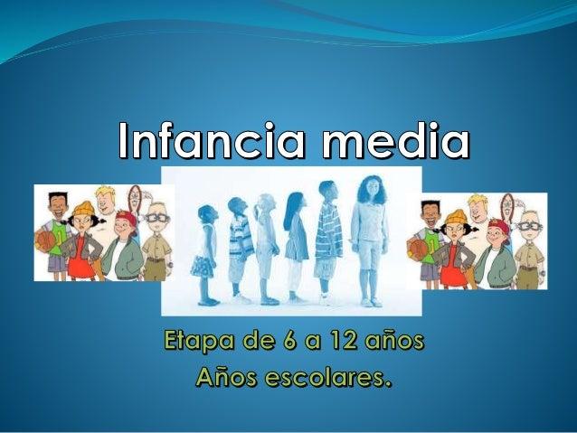 La Niñez Intermedia  Es una etapa del desarrollo que comprende de los seis a los doce años. En esta etapa se aprecian dis...