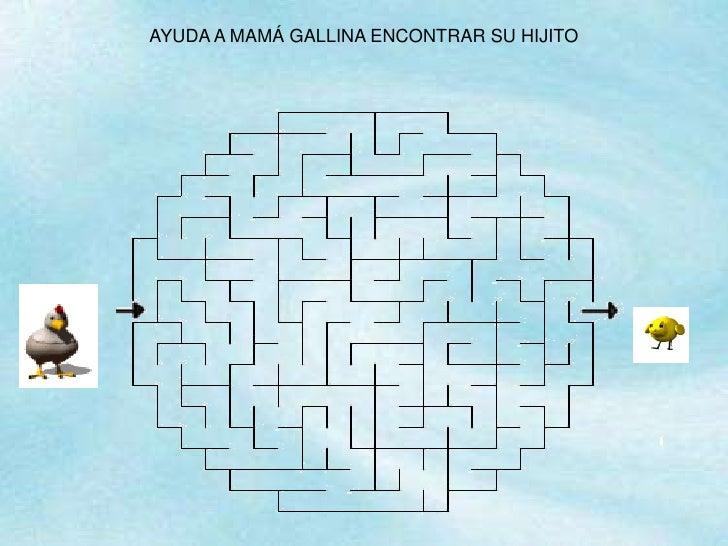 AYUDA A MAMÁ GALLINA ENCONTRAR SU HIJITO<br />