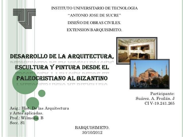 "INSTITUTO UNIVERSITARIO DE TECNOLOGIA                               ""ANTONIO JOSE DE SUCRE""                               ..."