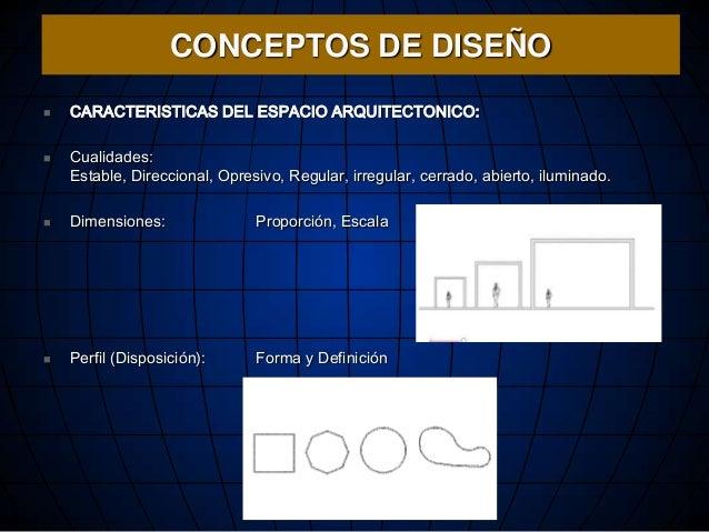 Desarrollo del concepto arquitect nico for Dimensiones de espacios arquitectonicos