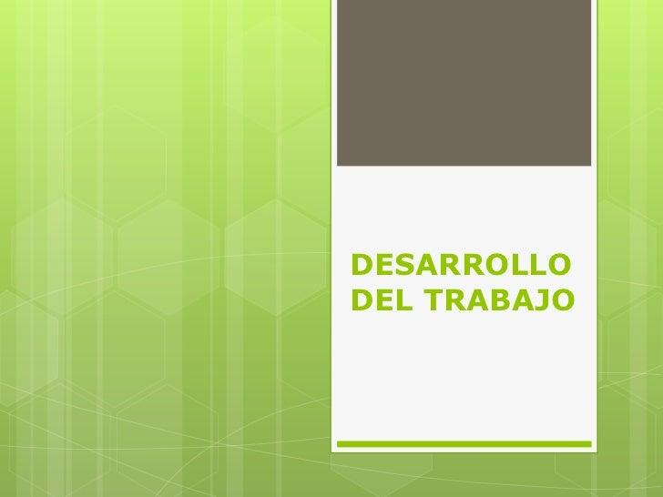 DESARROLLODEL TRABAJO