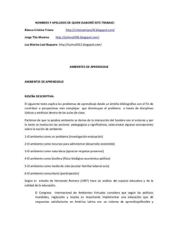 NOMBRES Y APELLIDOS DE QUIEN ELABORÓ ESTE TRABAJO:Blanca Cristina Triana          http://cristinatriana78.blogspot.com/Jor...