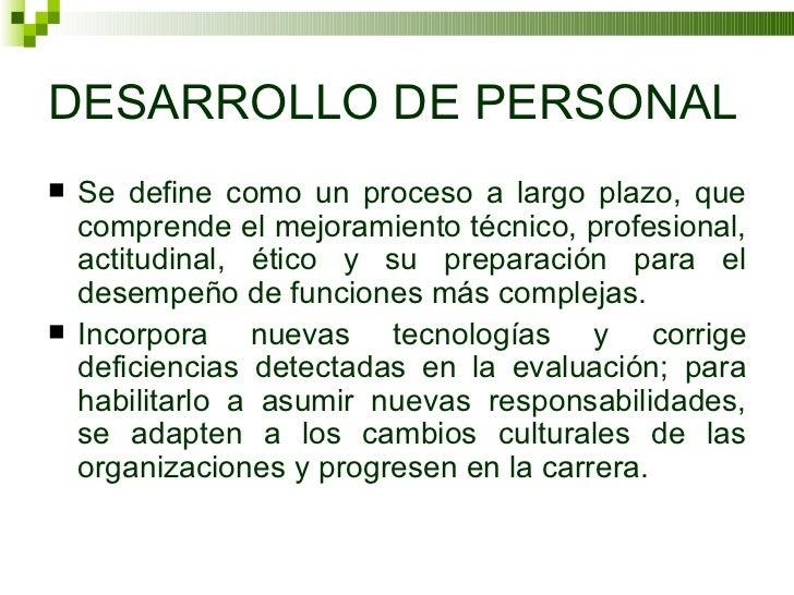 Desarrollo Personal: Desarrollo De Personal