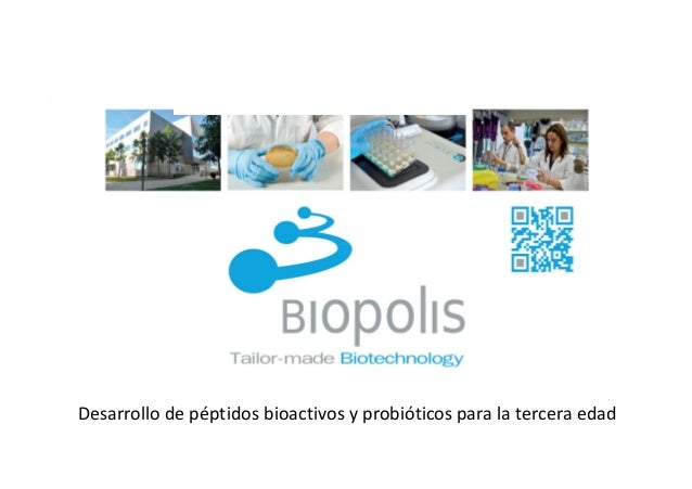 º Desarrollo de péptidos bioactivos y probióticos para la tercera edad