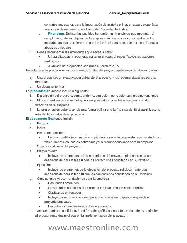 Servicio de asesoría y resolución de ejercicios ciencias_help@hotmail.com www.maestronline.com contratos necesarios para l...