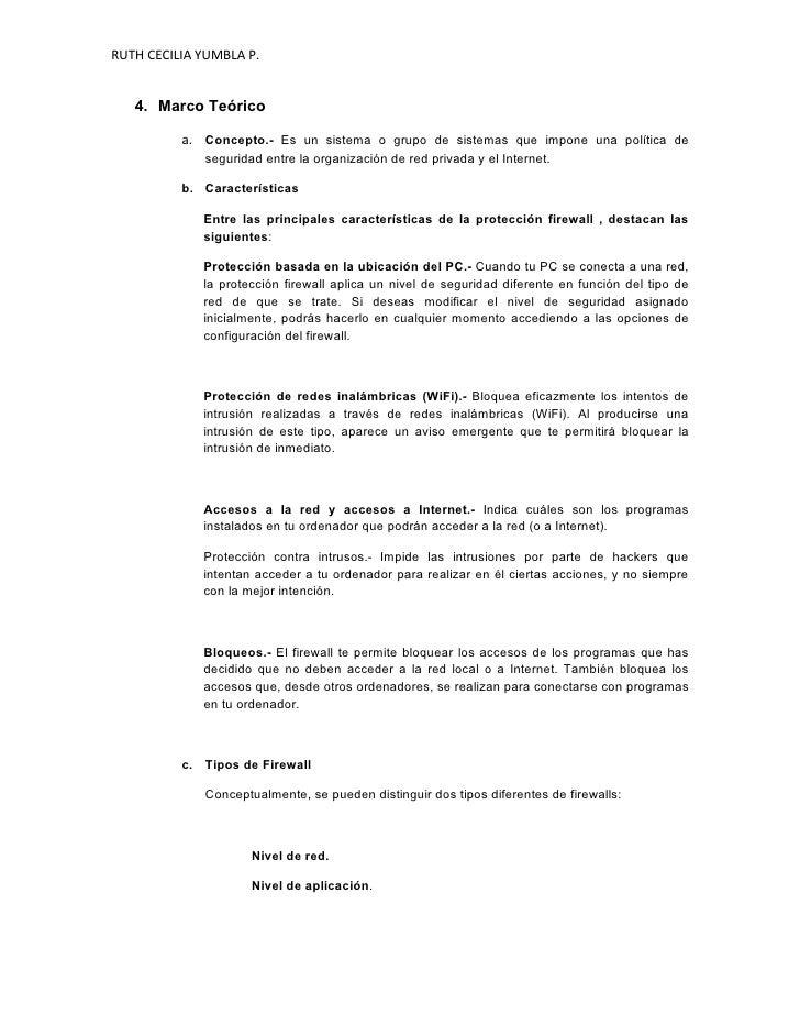 RUTH CECILIA YUMBLA P.      4. Marco Teórico            a. Concepto.- Es un sistema o grupo de sistemas que impone una pol...