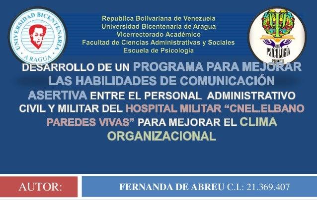 FERNANDA DE ABREU C.I.: 21.369.407AUTOR: