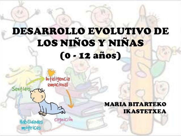 DESARROLLO EVOLUTIVO DE LOS NIÑOS Y NIÑAS (0 - 12 años) MARIA ... 8a41ebd3b2d