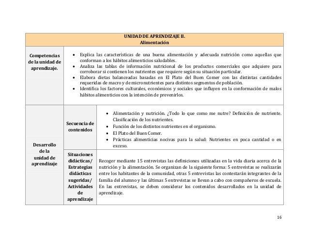 16 UNIDAD DE APRENDIZAJE II. Alimentación Competencias de la unidad de aprendizaje.  Explica las características de una b...