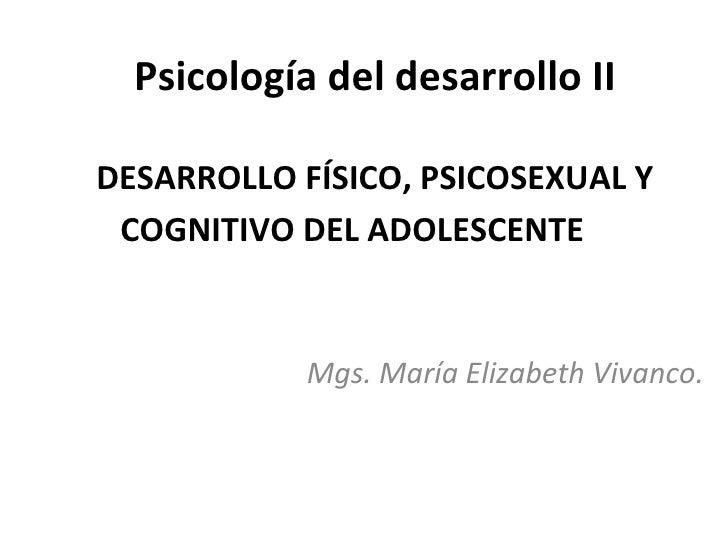 Manifestaciones del desarrollo psicosexual del adolesente