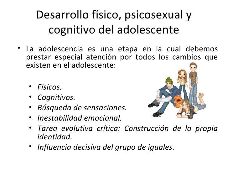 Que es el desarrollo sicosexual del adolecente
