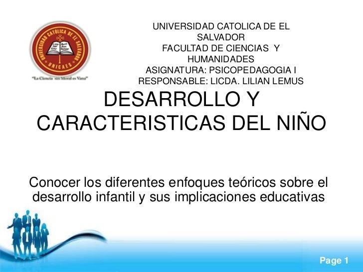 UNIVERSIDAD CATOLICA DE EL                            SALVADOR                      FACULTAD DE CIENCIAS Y                ...