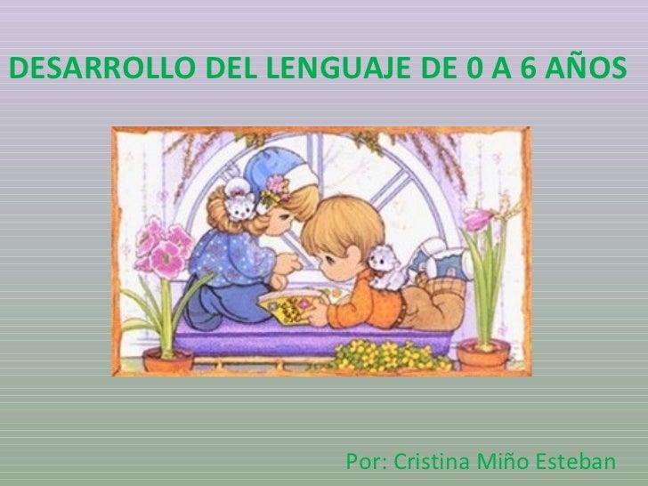 DESARROLLO DEL LENGUAJE DE 0 A 6 AÑOS Por: Cristina Miño Esteban