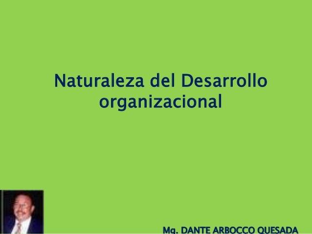 Naturaleza del Desarrollo organizacional  Mg. DANTE ARBOCCO QUESADA