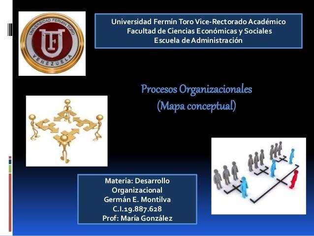 Universidad FermínToroVice-Rectorado Académico Facultad de Ciencias Económicas y Sociales Escuela de Administración Proces...