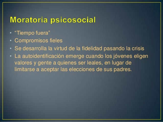MORATORIA PSICOSOCIAL EPUB