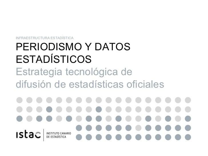 INFRAESTRUCTURA ESTADÍSTICA PERIODISMO Y DATOS ESTADÍSTICOS Estrategia tecnológica de difusión de estadísticas oficiales