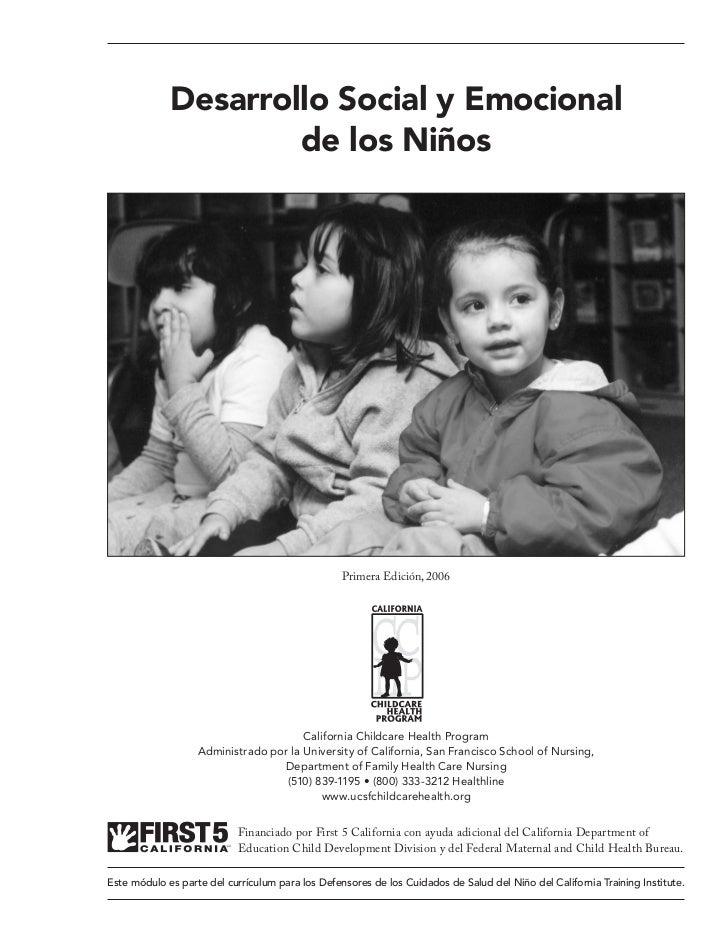 Desarrollo Social y Emocional                     de los Niños                                                  Primera Ed...