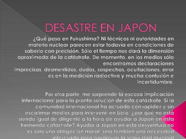 DESASTRE EN JAPON<br />¿Qué pasa en Fukushima? Ni técnicos ni autoridades en materia nuclear parecen estar todavía en cond...