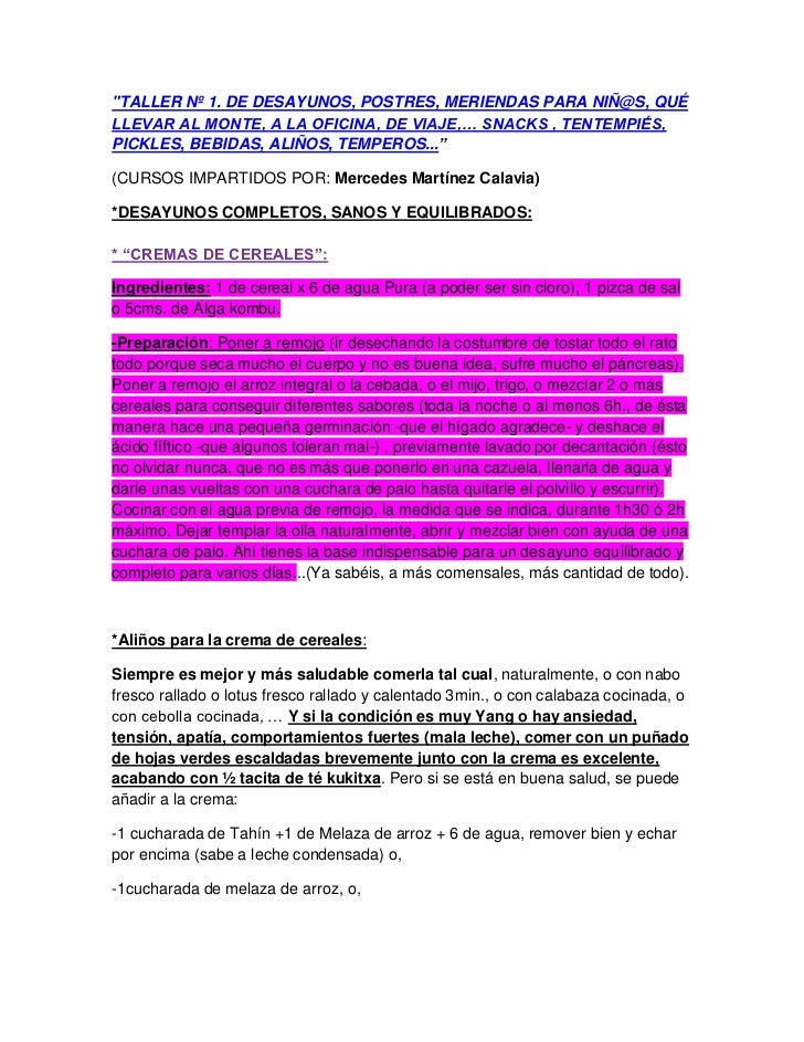 """""""TALLER Nº 1. DE DESAYUNOS, POSTRES, MERIENDAS PARA NIÑ@S, QUÉLLEVAR AL MONTE, A LA OFICINA, DE VIAJE,… SNACKS , TENTEMPIÉ..."""