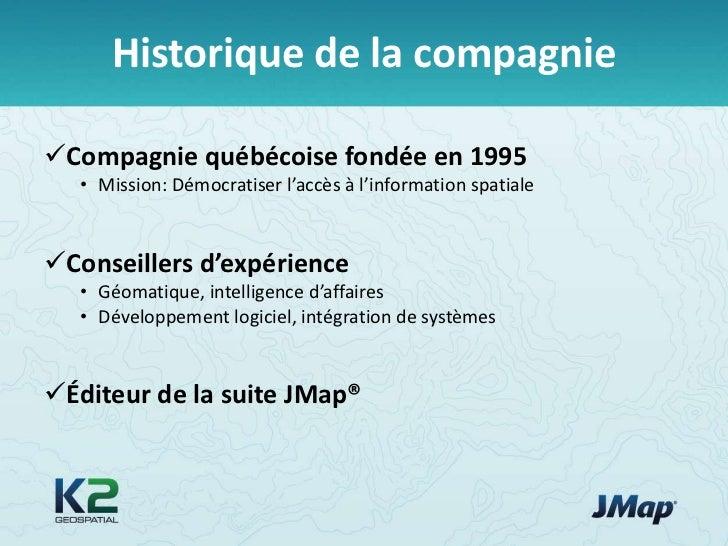 JMap 4.0 – Une plate-forme d'intégration cartographique pour les organisations Slide 2