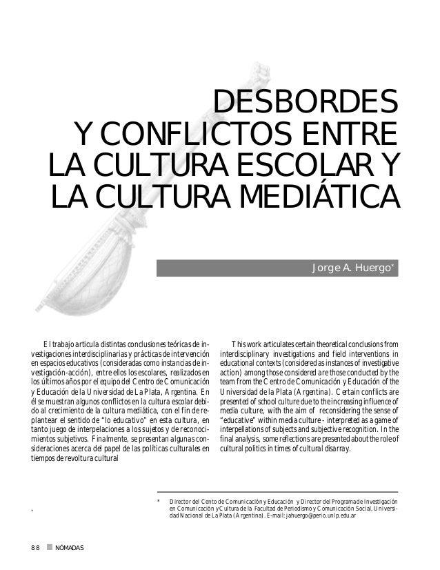 NÓMADAS88 El trabajo articula distintas conclusiones teóricas de in- vestigaciones interdisciplinarias y prácticas de inte...
