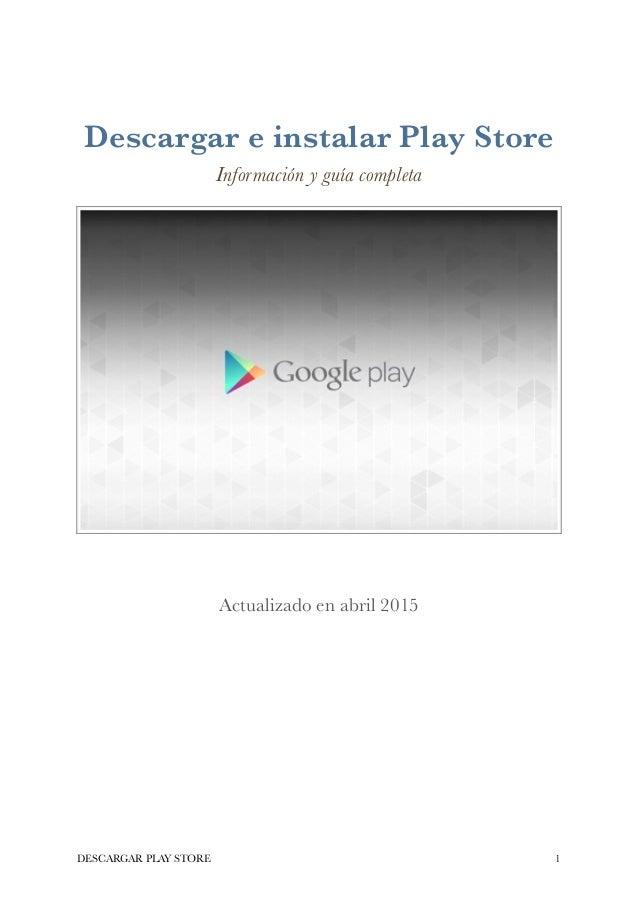 Descargar Play Store gratis