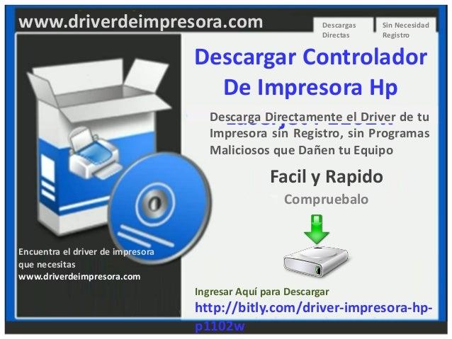 descargar driver impresora hp laserjet p1102w