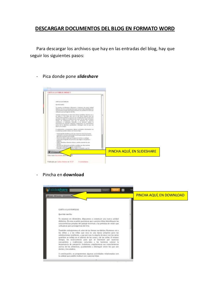 DESCARGAR DOCUMENTOS DEL BLOG EN FORMATO WORD   Para descargar los archivos que hay en las entradas del blog, hay quesegui...