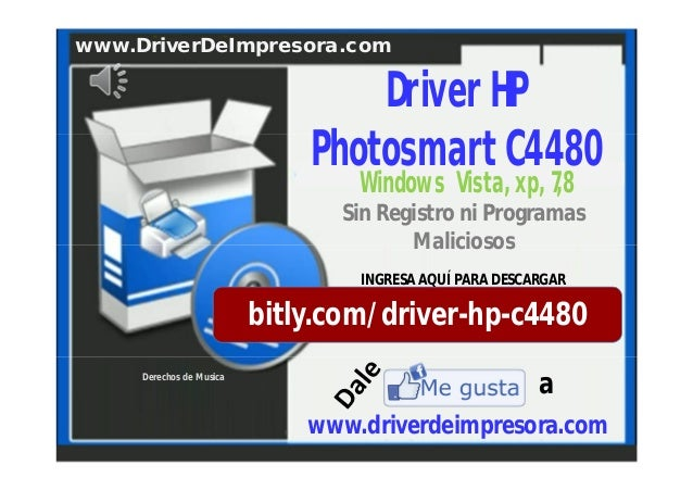 Sin Registro ni Programas Maliciosos bitly.com/driver-hp-c4480 INGRESA AQUÍ PARA DESCARGAR www.DriverDeImpresora.com Derec...