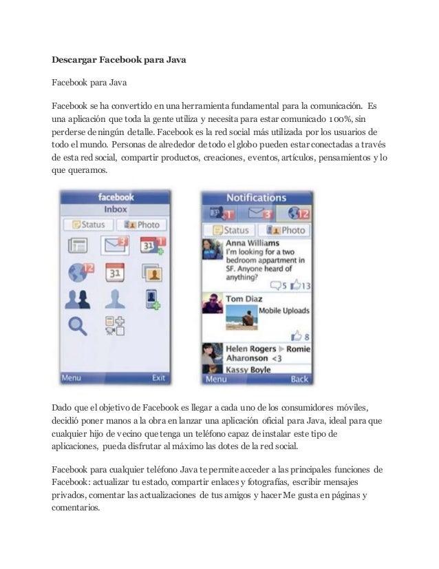 descargar facebook para java facebook para java facebook se ha convertido en una herramienta fundamental para