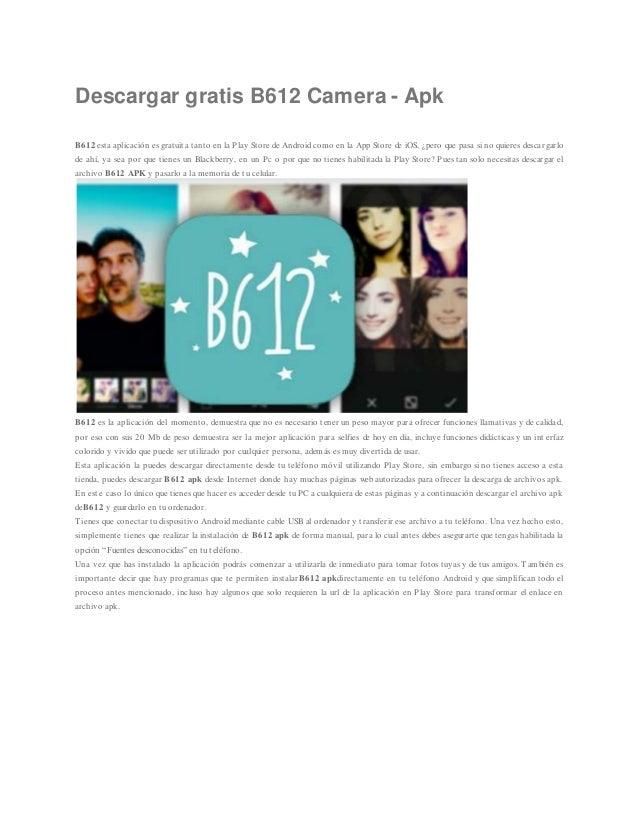 camera b612 gratis para descargar