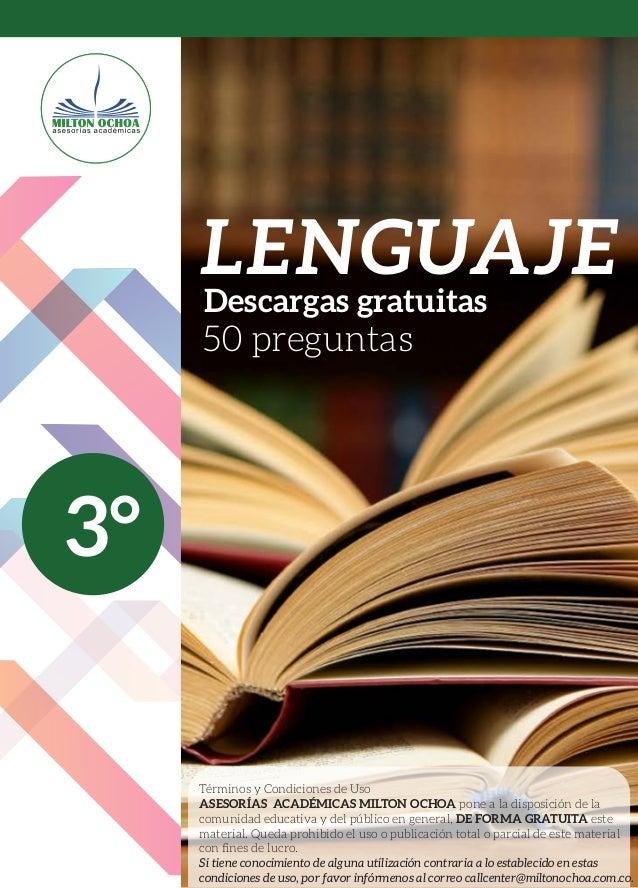 3° Términos y Condiciones de Uso ASESORÍAS ACADÉMICAS MILTON OCHOA pone a la disposición de la comunidad educativa y del p...